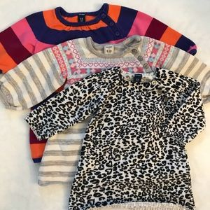 Old Navy 3pk Sweater Dresses 6-12mo
